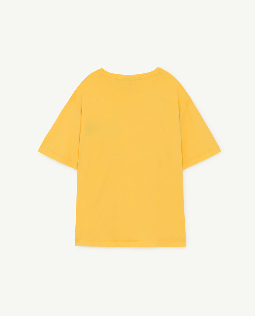 ROOSTER OVERSIZE KIDS T-SHIRT, YELLOW THE