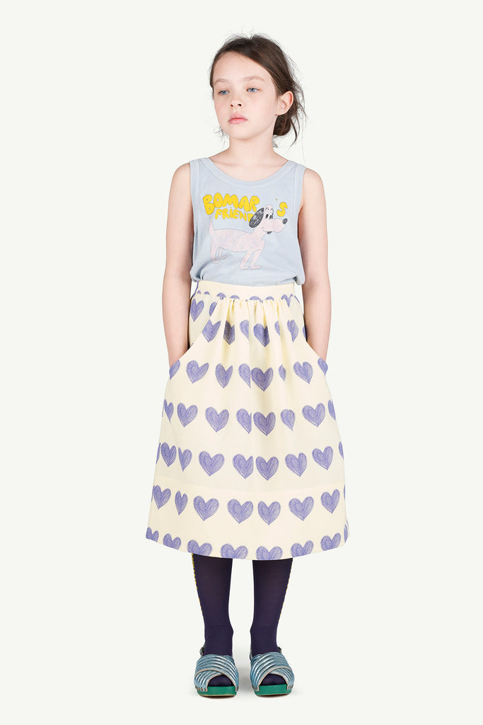 SOW KIDS SKIRT, YELLOW HEARTS - Cemarose Children's Fashion Boutique