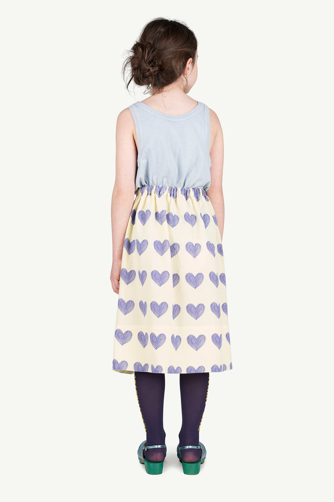SOW KIDS SKIRT, YELLOW HEARTS