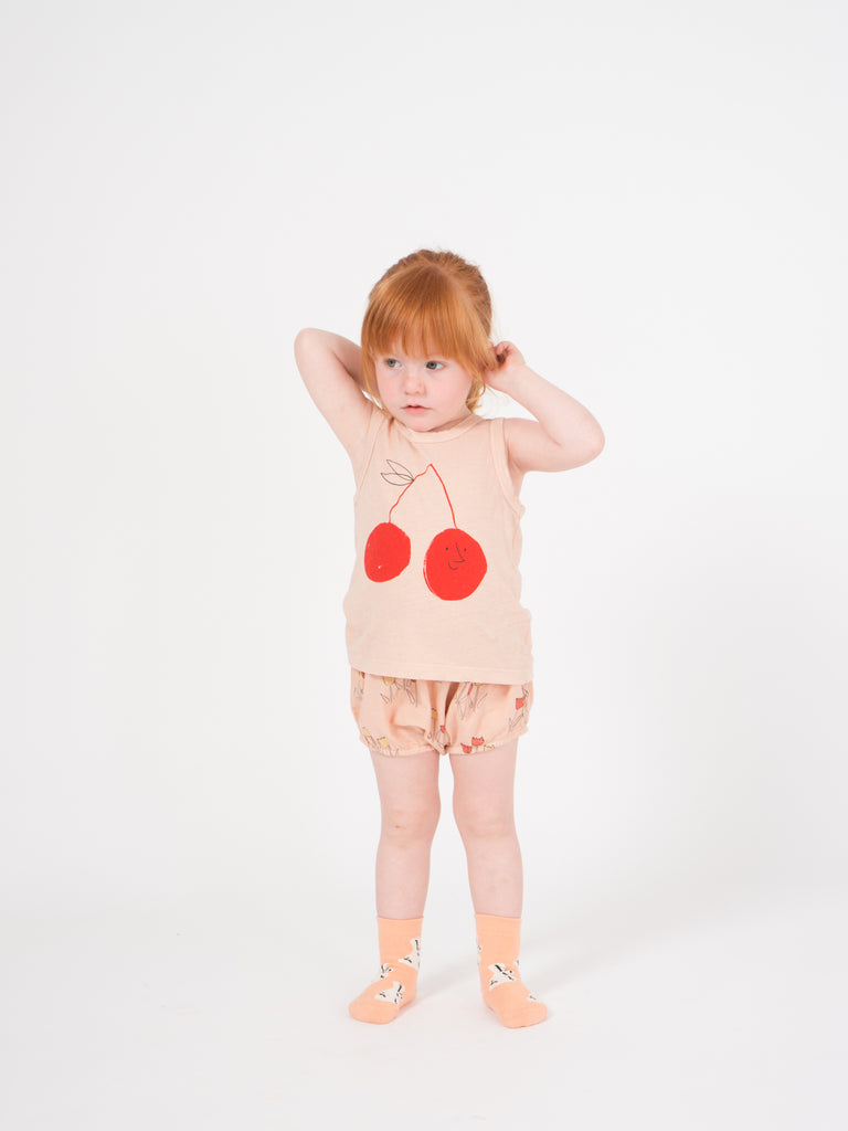 Cherry Linen Tank Top - Cemarose Children's Fashion Boutique