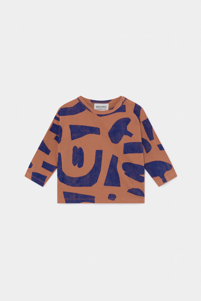 Abstract Long Sleeve T-Shirt, Autumn Leaf