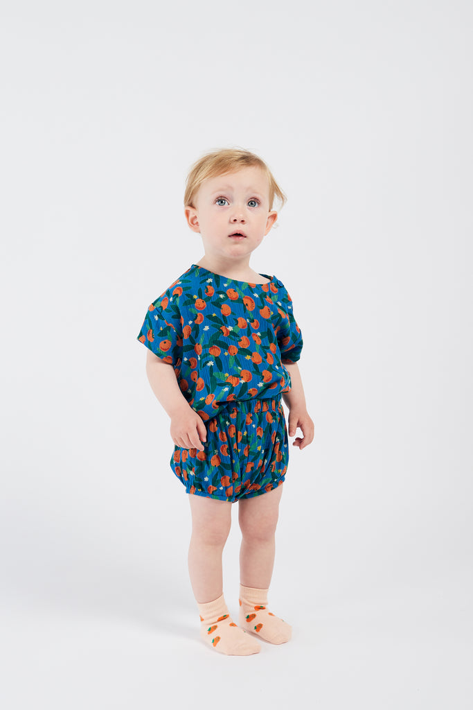 All Over Oranges Blouse - Cemarose Children's Fashion Boutique
