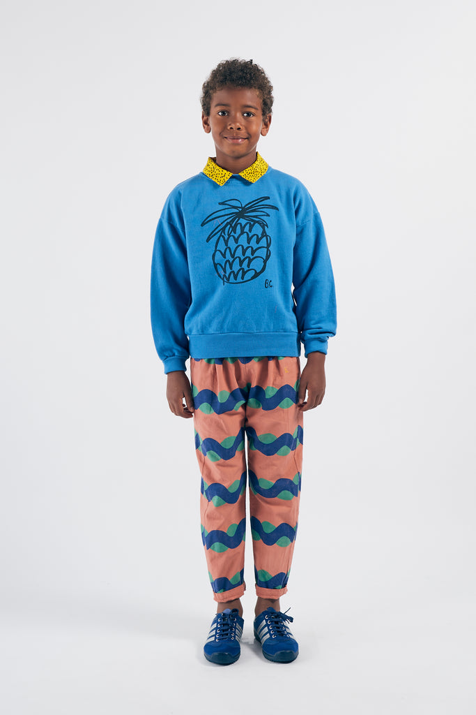 Pineapple Sweatshirt, Azure Blue