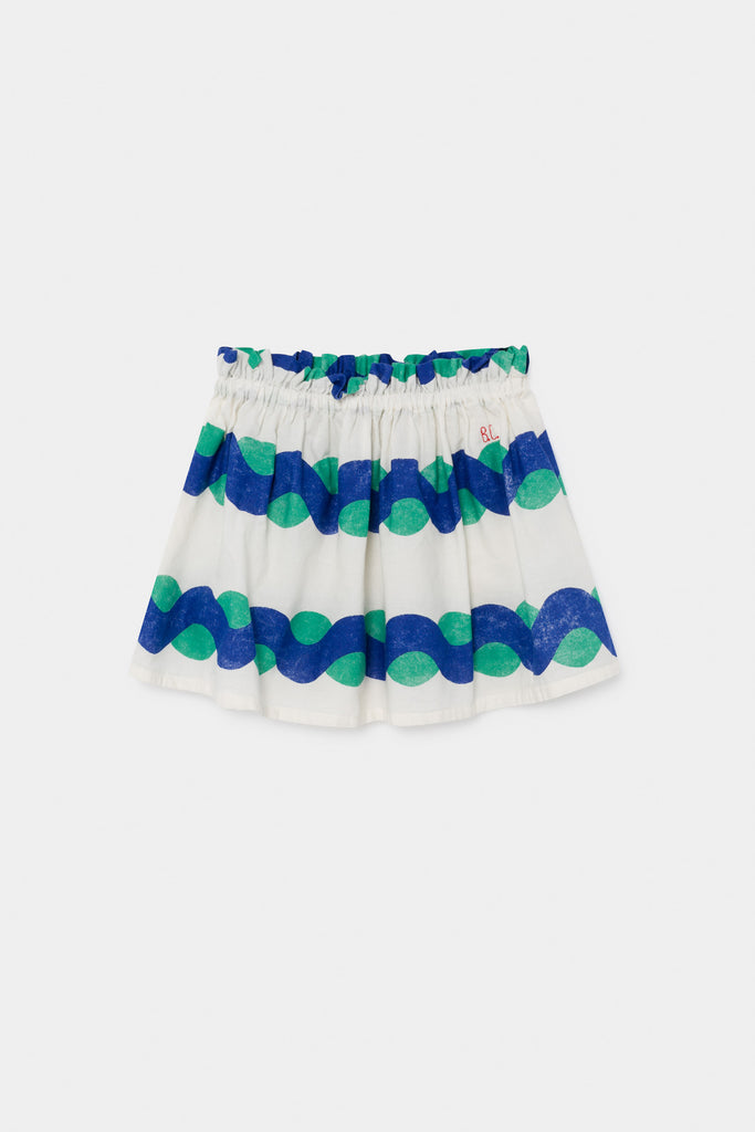 All Over Sea Flared Skirt, Blue Fog