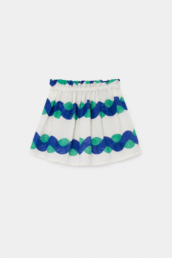 All Over Sea Flared Skirt, Blue Fog - Cémarose Canada