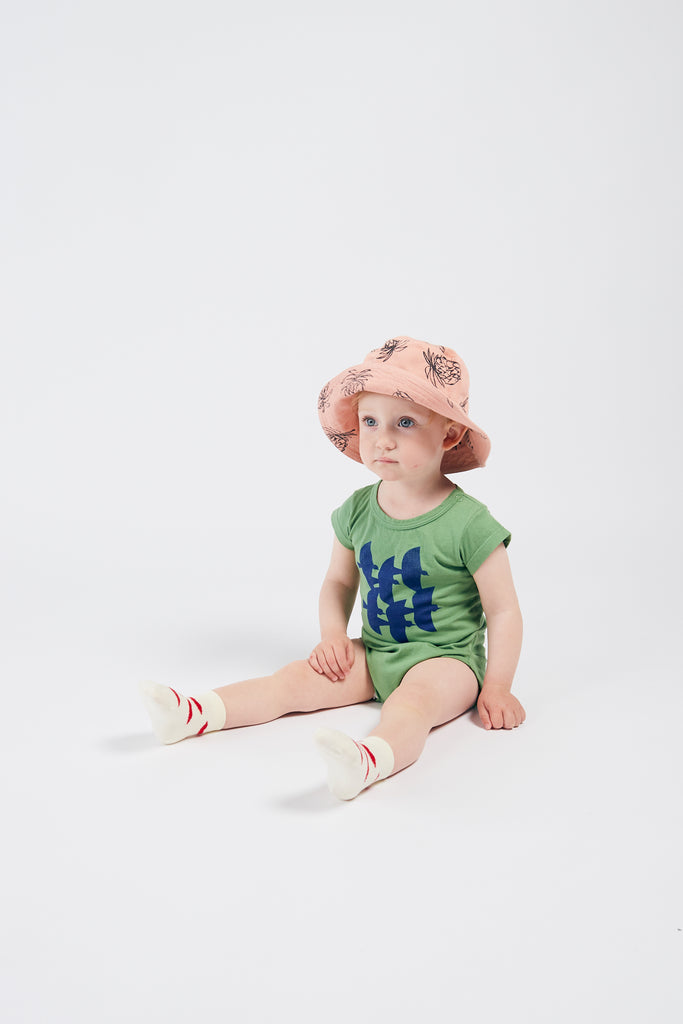 All Over Pineapple Hat, Blooming Dahlia - Cemarose Children's Fashion Boutique
