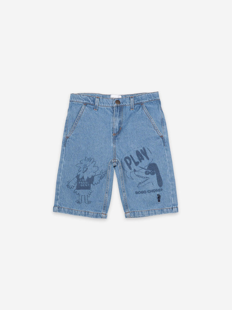 Bird & Dog Play Denim Bermuda
