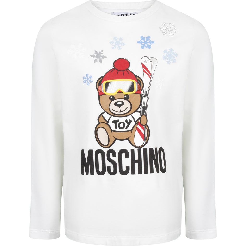 Ski Teddy LS t-shirt, white