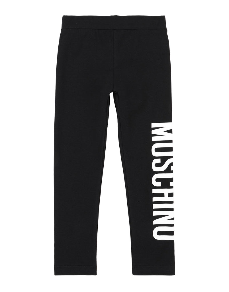 GIRL LEGGINGS W LOGO,BLACK
