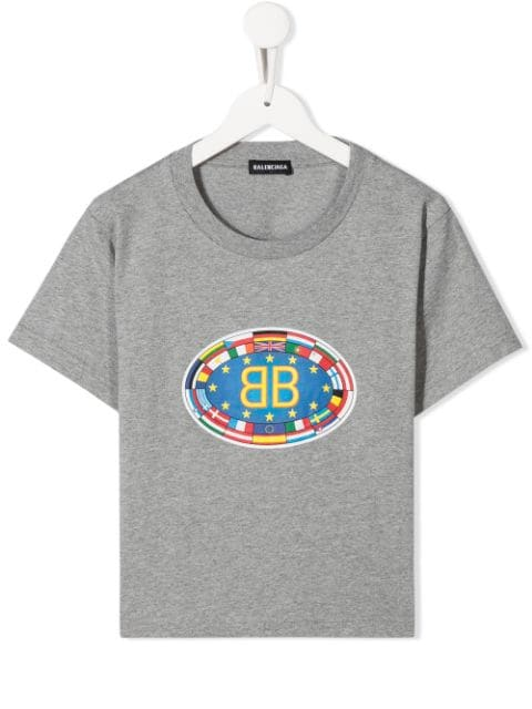 T-Shirt Cotton, MEDIUM HEATHER GREY - Cemarose Children's Fashion Boutique