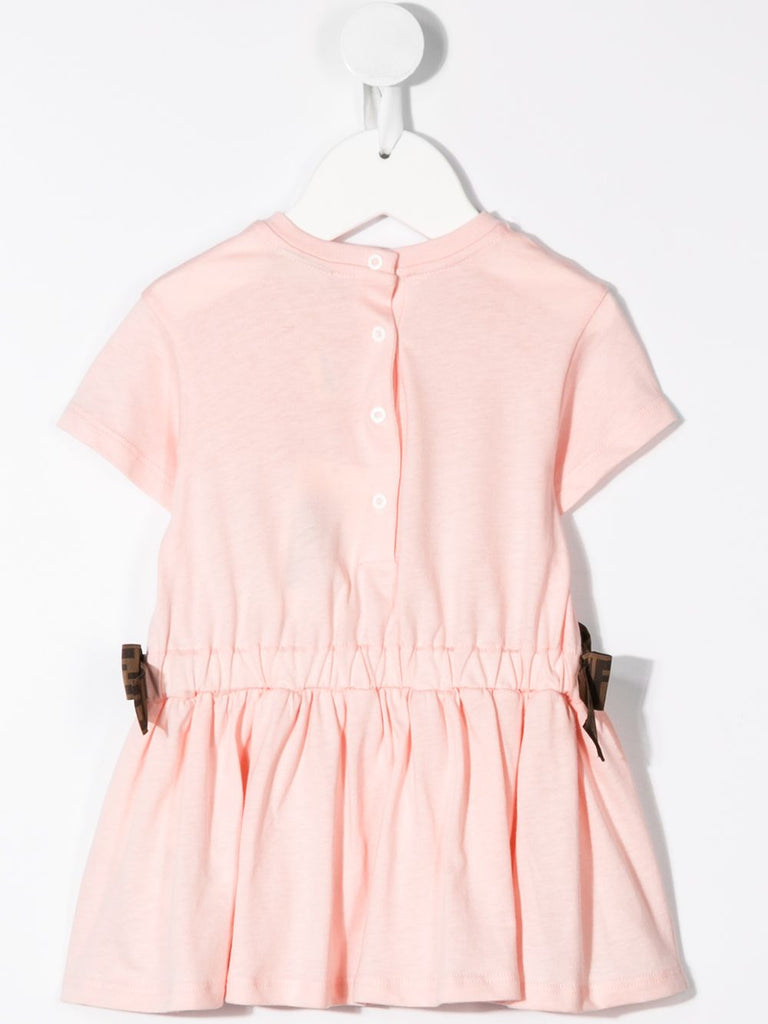 SS DRESS WITH ILLUSTRATIONS AND LOGO WAIST DETAILS, PINK