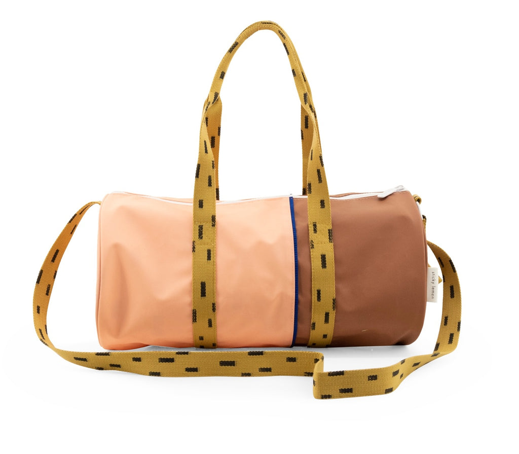 Sticky Lemon duffle bag | large sprinkles - lemonade pink/sugar brown/panache gold - Cemarose Children's Fashion Boutique
