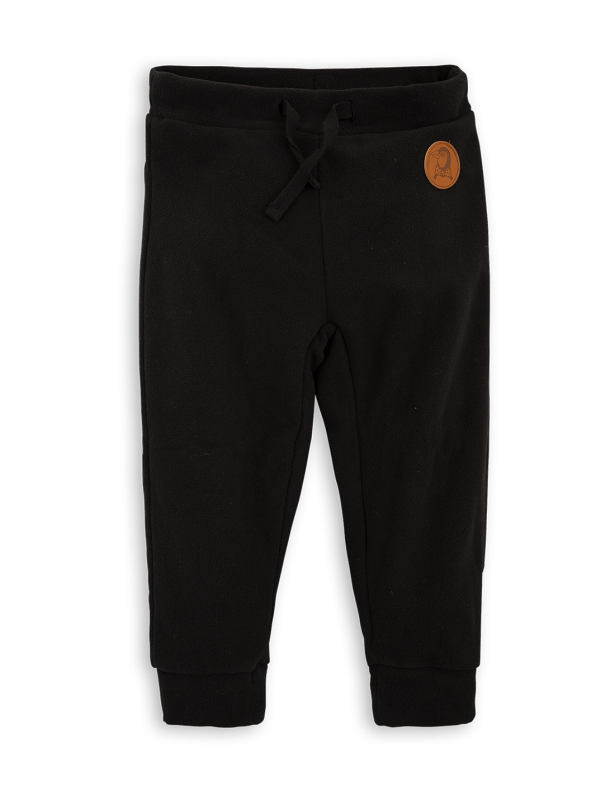 MINI RODINI Fleece trousers - drop 1, black - Cemarose Children's Fashion Boutique
