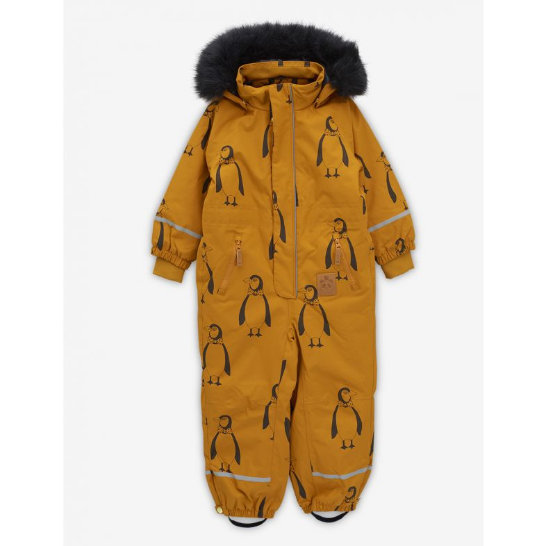 Kebnekaise penguin overall, brown - Cemarose Children's Fashion Boutique