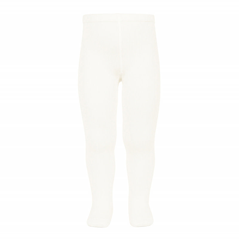 BASIC PLAIN TIGHTS, CREAM - Cemarose Children's Fashion Boutique
