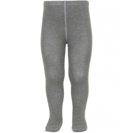 BASIC PLAIN TIGHTS, LIGHT GREY - Cemarose Children's Fashion Boutique