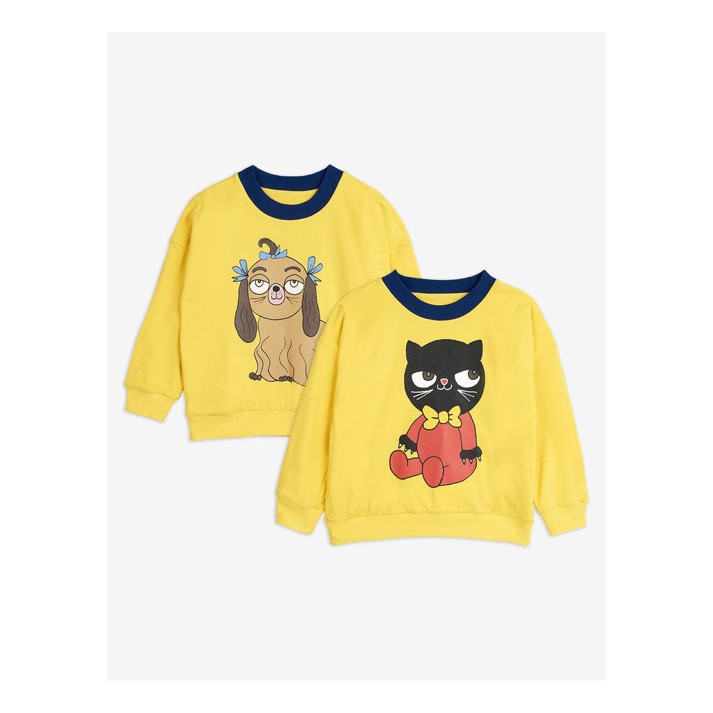 Yellow reversible sweatshirt, Yellow - Cemarose Children's Fashion Boutique