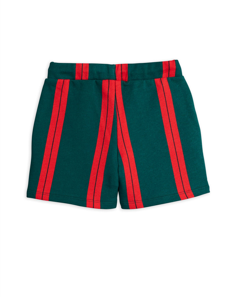 Stripe sweatshorts, Green