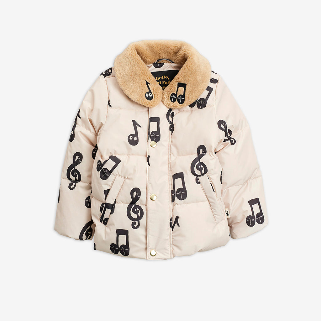 Notes puffer jacket,OFFWHITE