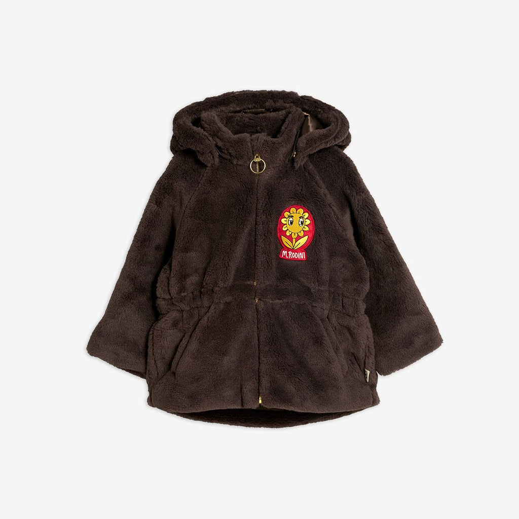 Faux fur parka,Brown