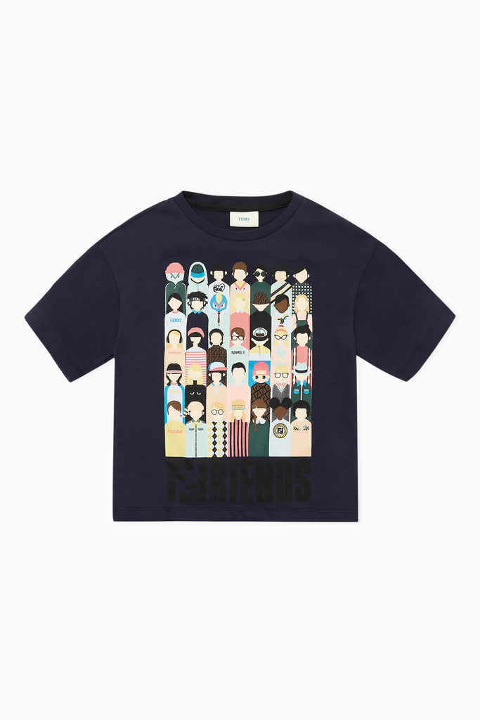 BOYS T-SHIRT WITH FRIENDS GRAPHIC, NAVY - Cemarose Children's Fashion Boutique