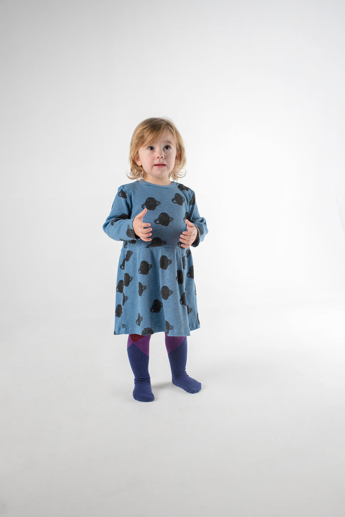 Baby All Over Small Saturn Jersey Dress - Cemarose Children's Fashion Boutique