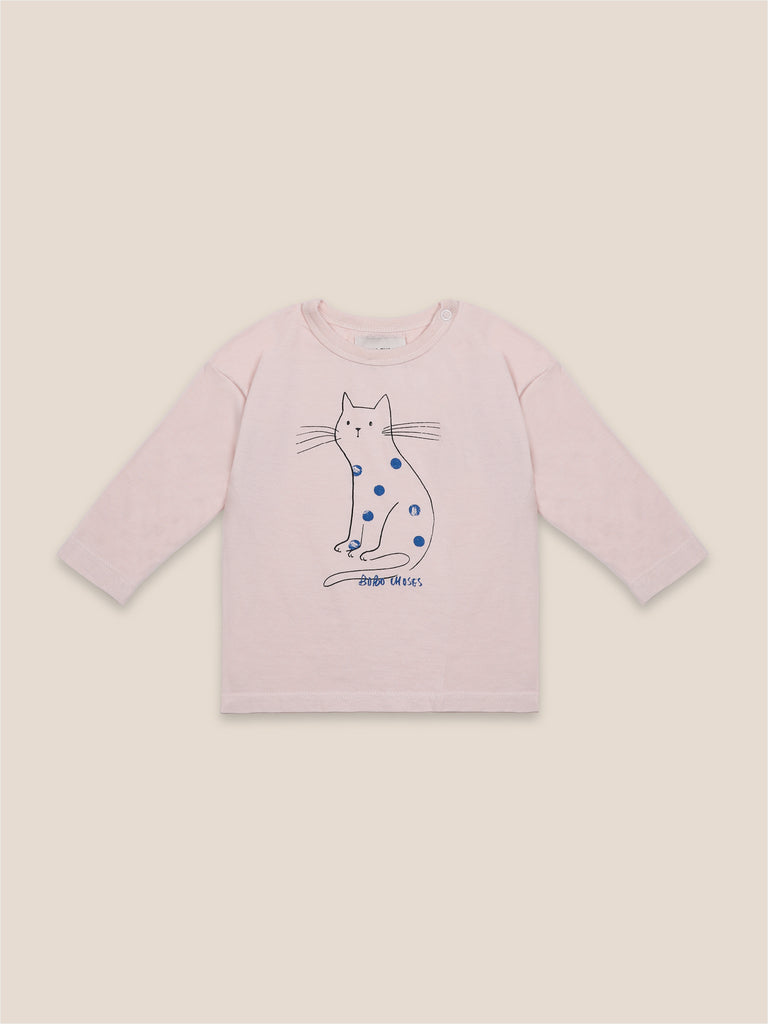 Cat Long Sleeve Baby T-Shirt - Cemarose Children's Fashion Boutique