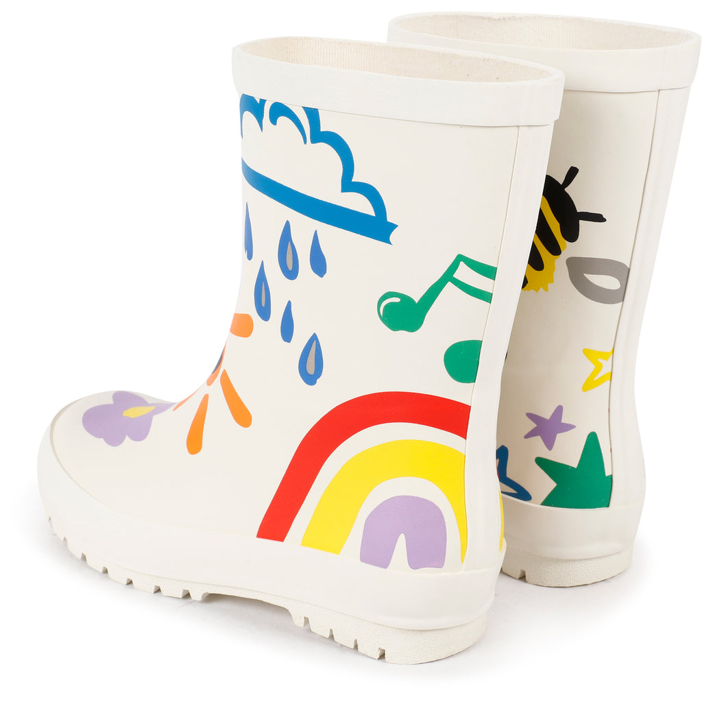 KID GIRL CRAYON WEATHER RAINBOOTS