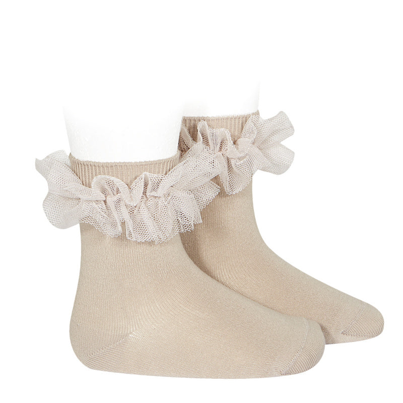 Tulle Ruffle Short Socks, 2.494/4-334 - Cemarose Children's Fashion Boutique
