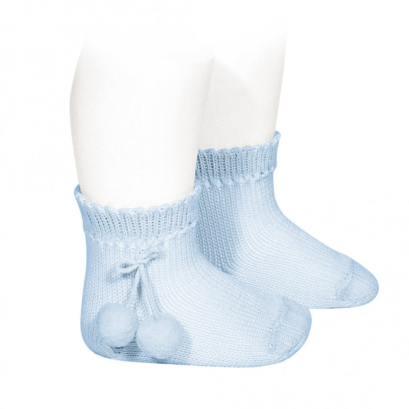 PERLE SHORT SOCKS WITH POMPOMS, 2.504/4-410 - Cemarose Children's Fashion Boutique