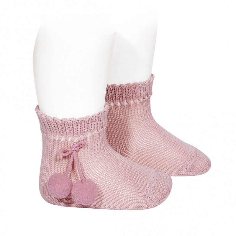 PERLE SHORT SOCKS WITH POMPOMS, 2.504/4-526 - Cemarose Children's Fashion Boutique