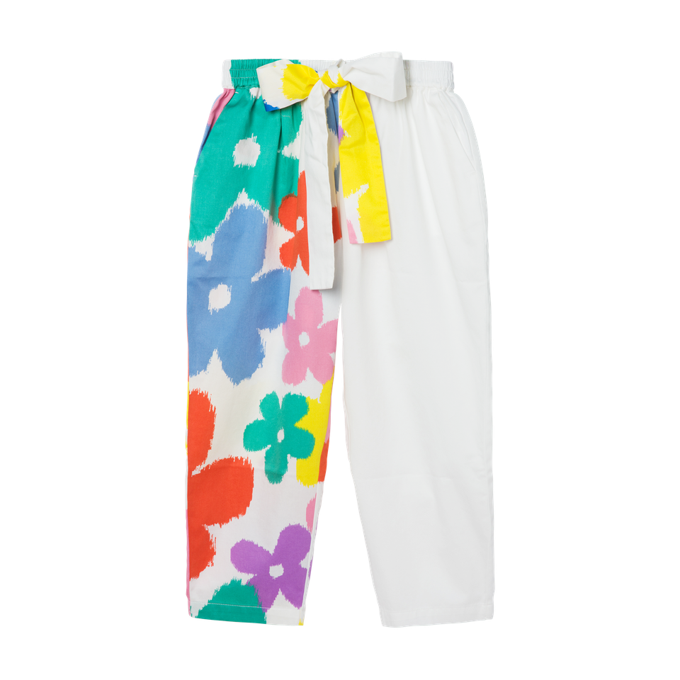 KID GIRL FLOWERS PANTS,MULTI