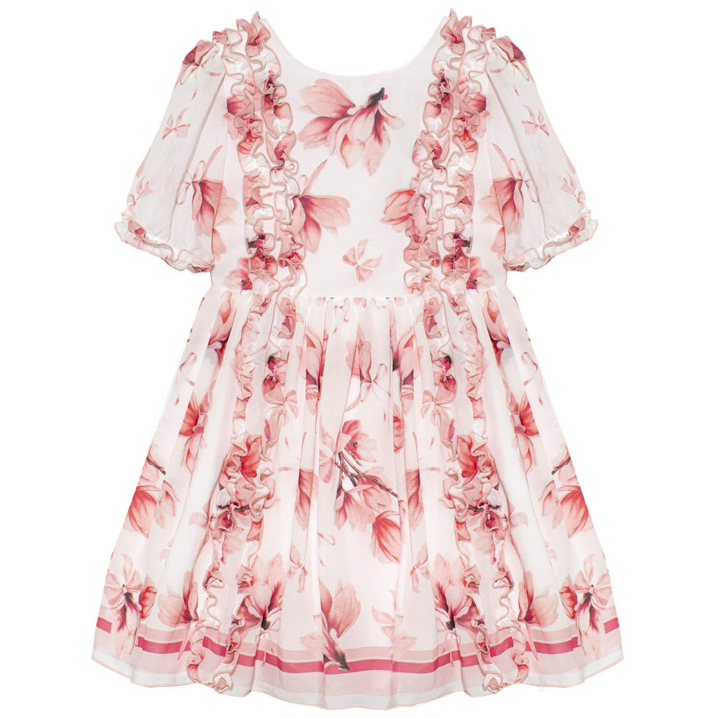 CHIFFON OFF WHITE DRESS - Cemarose Children's Fashion Boutique