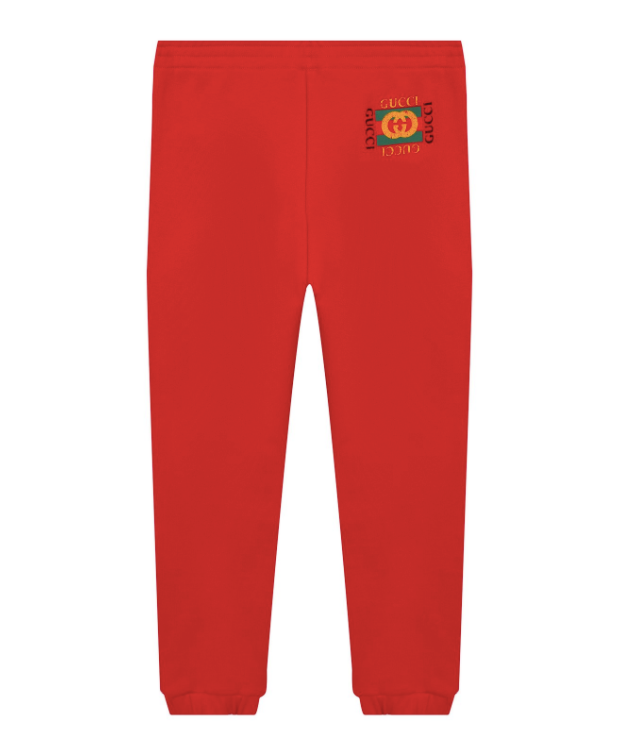 J JOG PANTS FLTD CTN JRS W/PR,CRAB RED/GREEN/RED