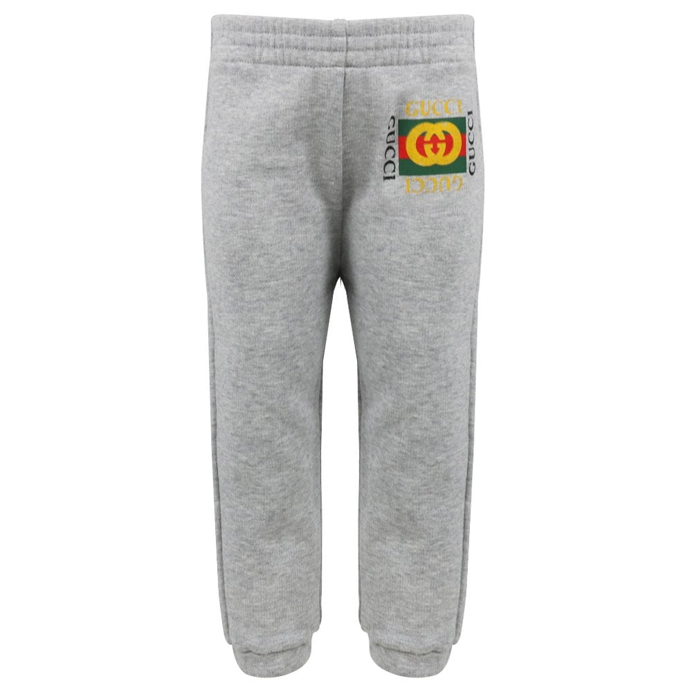 B JOGG PANTS FLT CTN JRS W/WEB,L.GREY/GREEN/RED