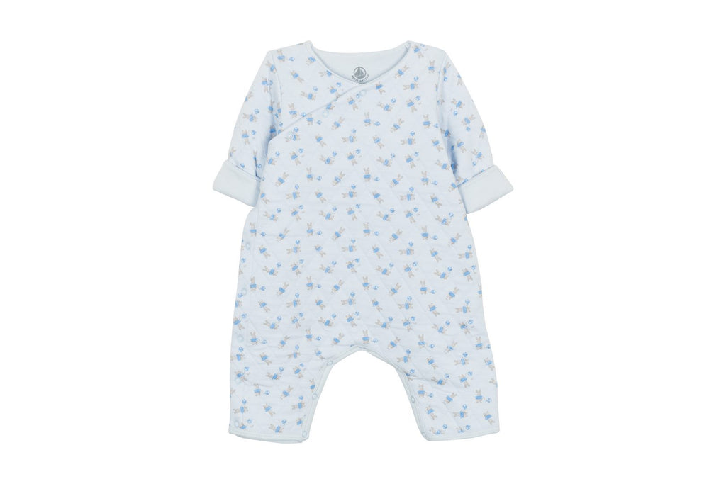 Bunny babysuit, light blue - Cemarose Children's Fashion Boutique