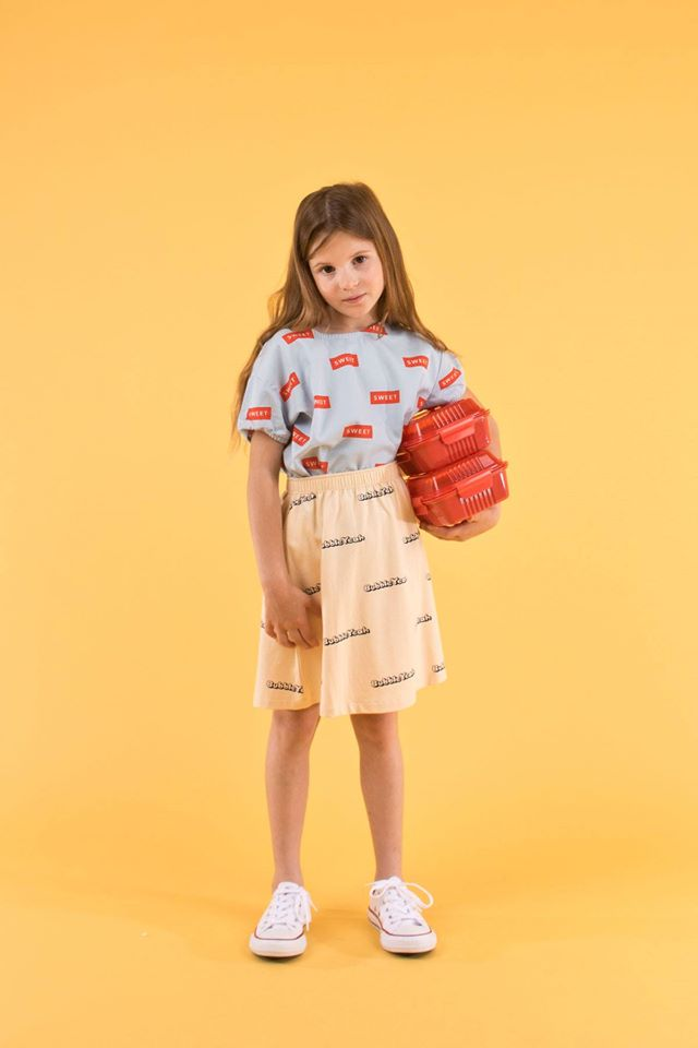 SS19-SWEET,SS BLOUSE mild blue/red - Cemarose Children's Fashion Boutique
