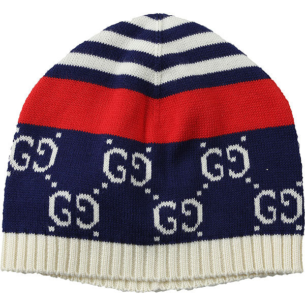 B MARYHAT HAT CTN W/GG&STRIPES,NAVY/RED