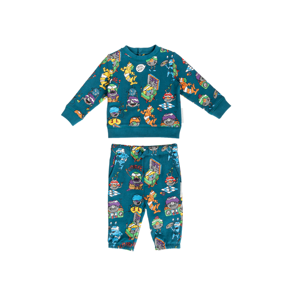 BABY BOY MUSIC MONSTERS SWEATSUIT SET