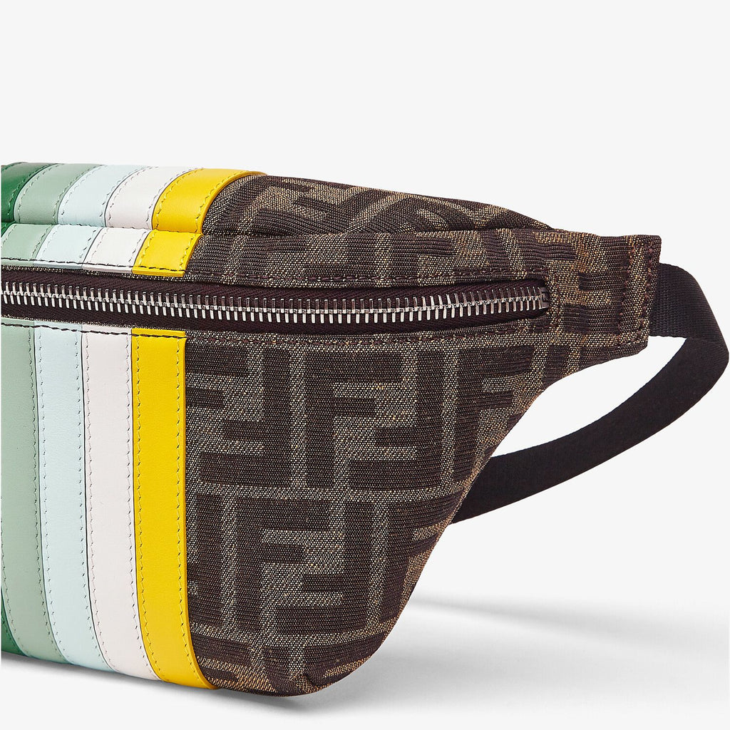BELT BAG W STRIPES AND LOGO PRT,GREEN