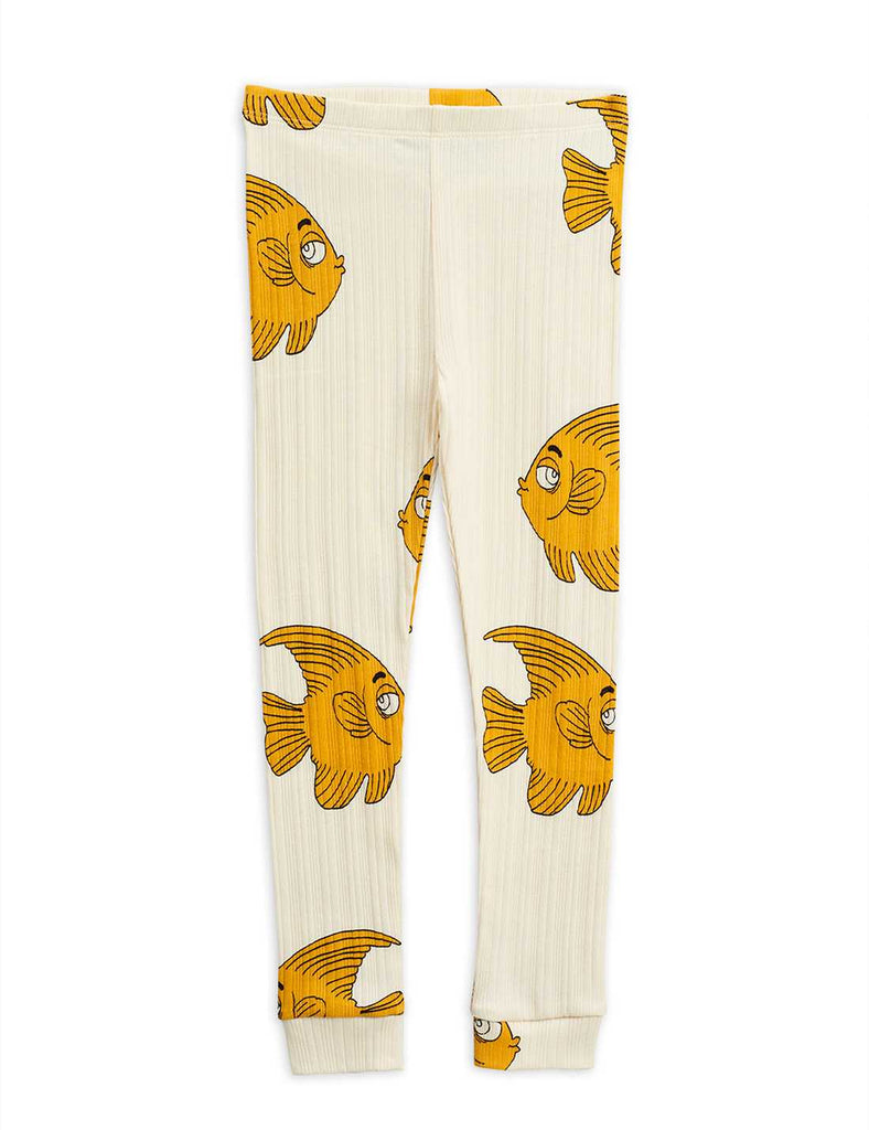 Fish aop leggings, OFFWHITE