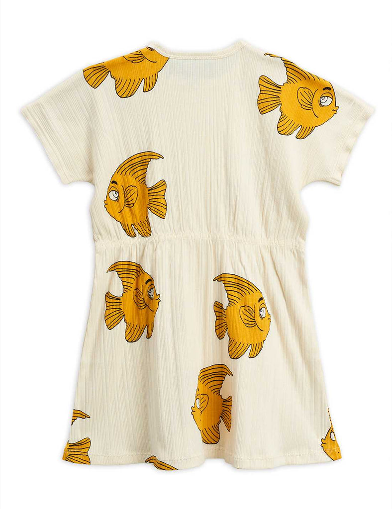 Fish ss dress, OFFWHITE - Cemarose Children's Fashion Boutique
