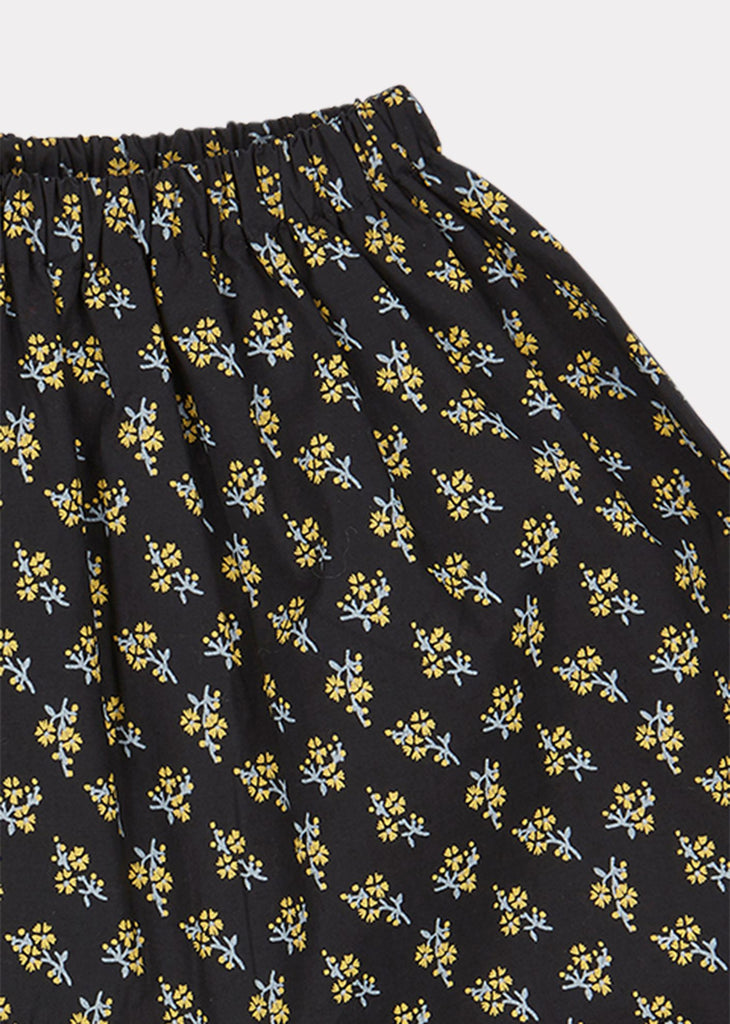 WOODPIDGEON BABY TROUSERS,BLK YELLOW SMALL FLORAL