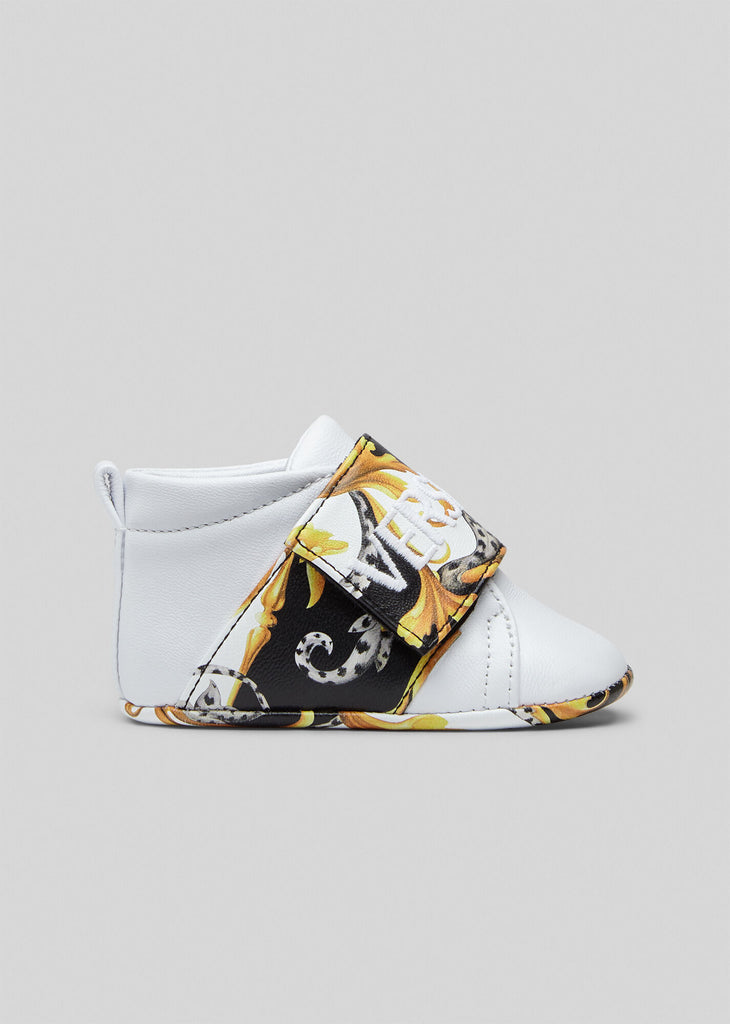 BABY SNEAKER,WHITE BLK GOLD