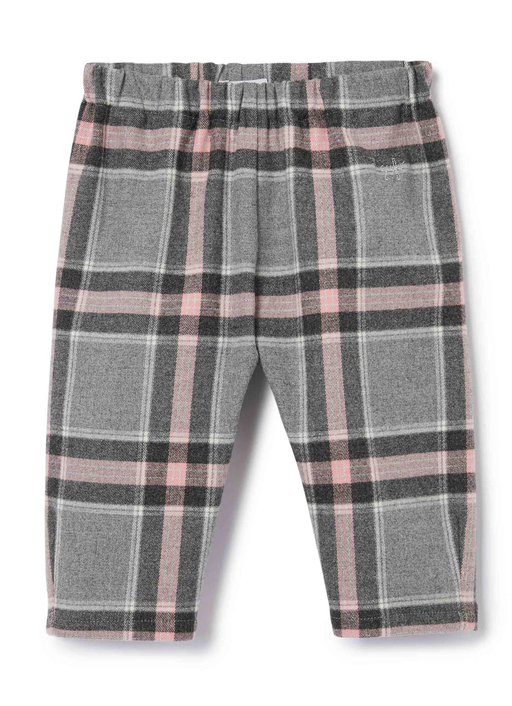 BABY GIRL PLAID PANT, GREY PINK