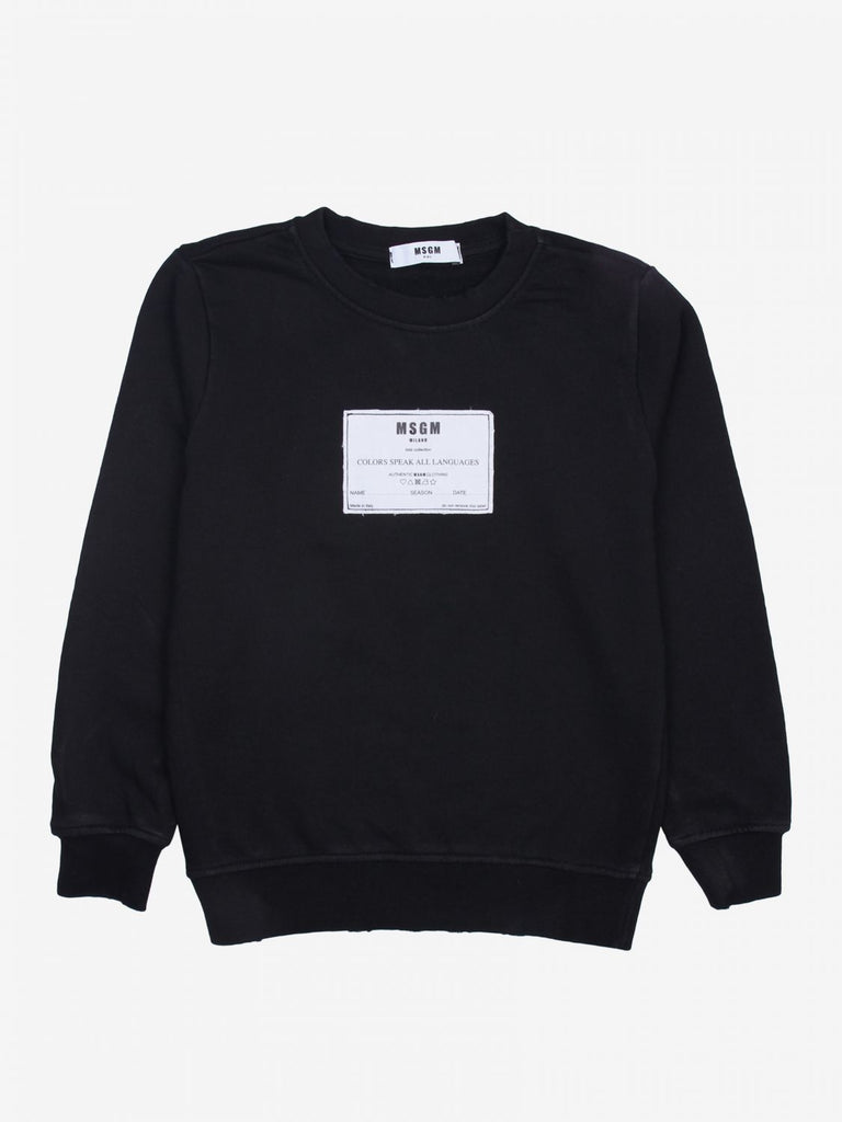 SWEATSHIRT FLEECE BOY,BLACK