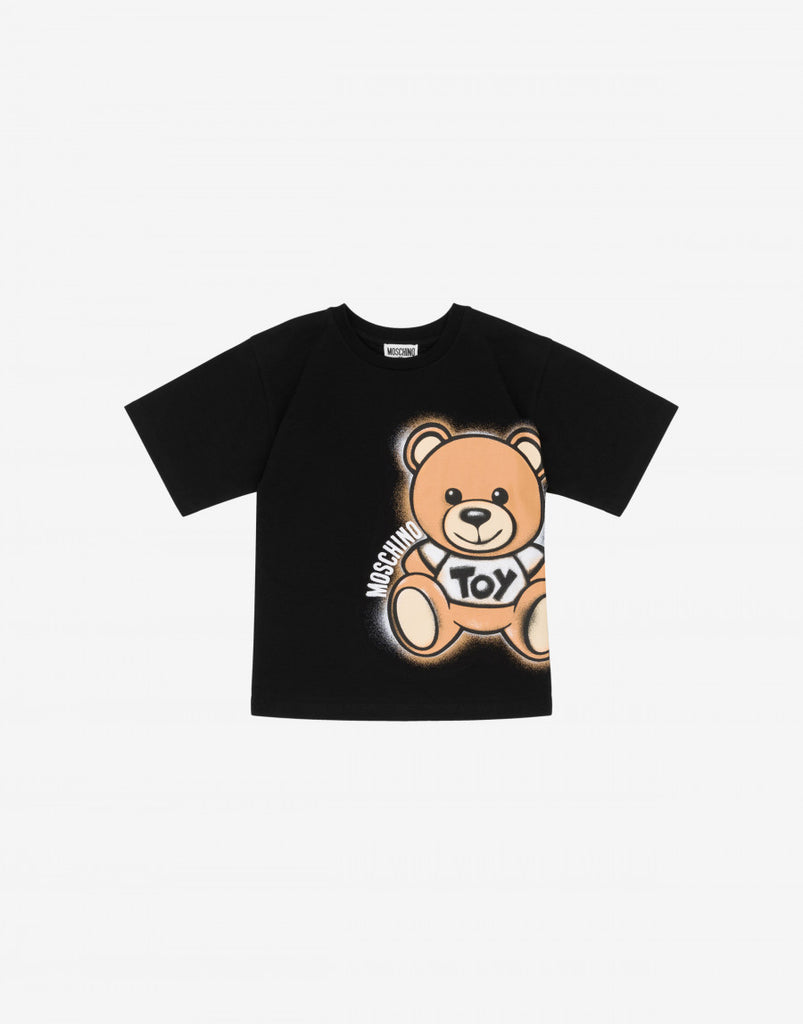 SS TEE W BIG BEAR PRINT,BLACK