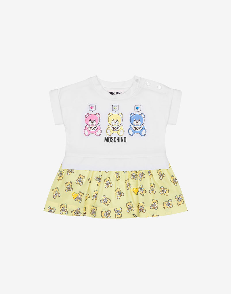 BB GIRL SS DRESS W THREE BEARS PRT,LEMONADE