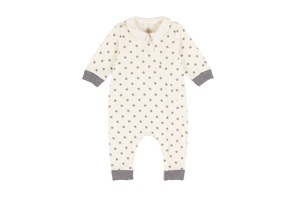 FOOTLESS SLEEPSUIT,STAR