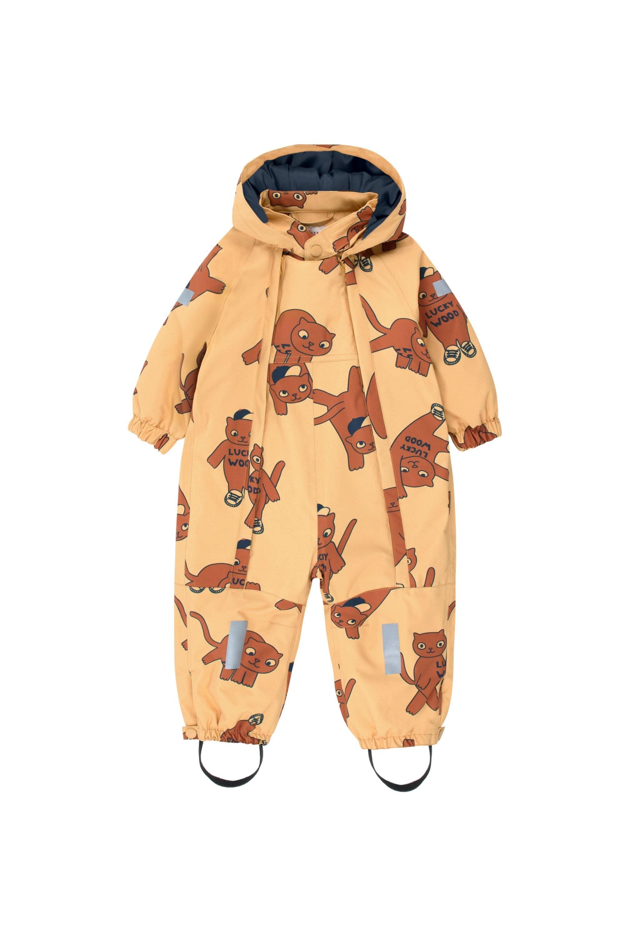 'CATS'' SNOW ONE-PIECE sand/brown
